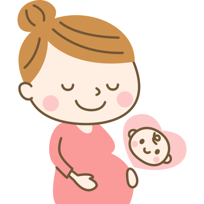 妊婦さんのイラスト素材 | 無料フリーイラスト素材集【Frame illust】