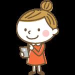 スマホを操作する女の子のイラスト