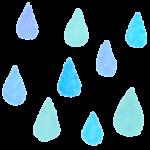 【水彩画風】雨粒(水滴・雫)の背景素材