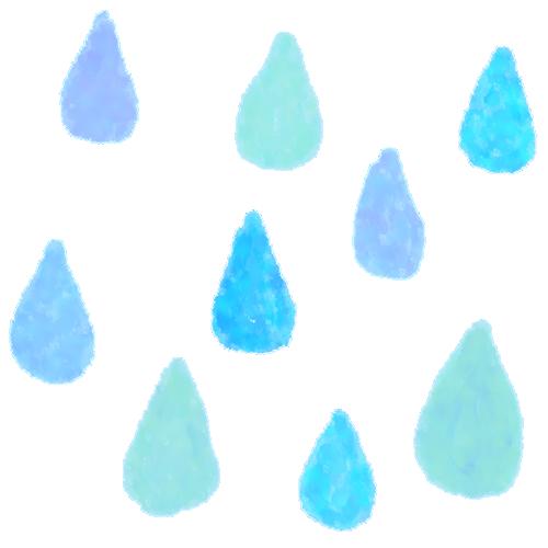 雨粒(水滴・雫)の水彩画風背景素材