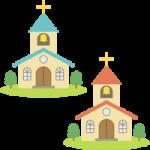 教会(チャペル)のイラスト