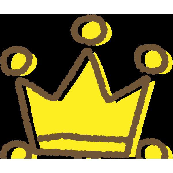 手書き風のかわいい王冠イラスト 金 銀 銅 無料フリーイラスト素材集 Frame Illust