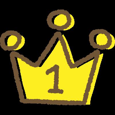 手書き風のかわいい王冠イラスト<ランキング1位>
