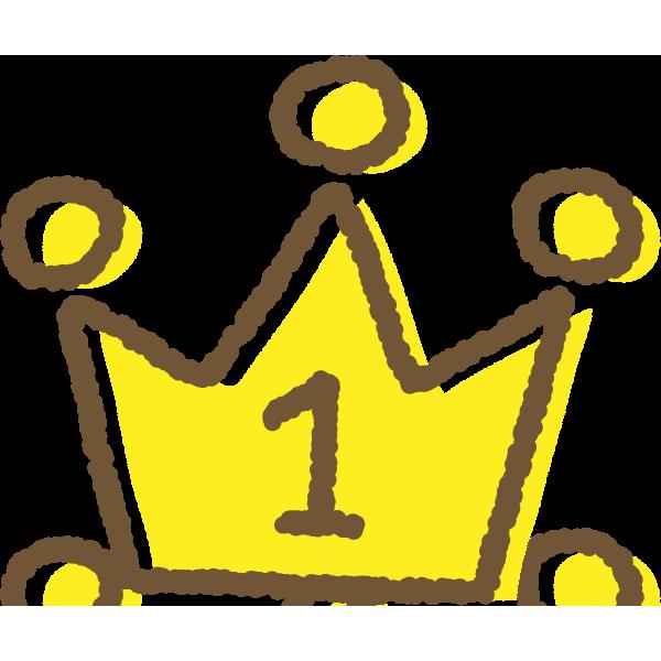 手書き風のかわいい王冠イラストランキング1位2位3位 無料