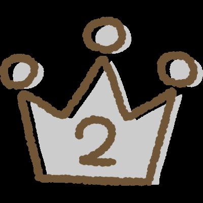 手書き風のかわいい王冠イラスト<ランキング2位>