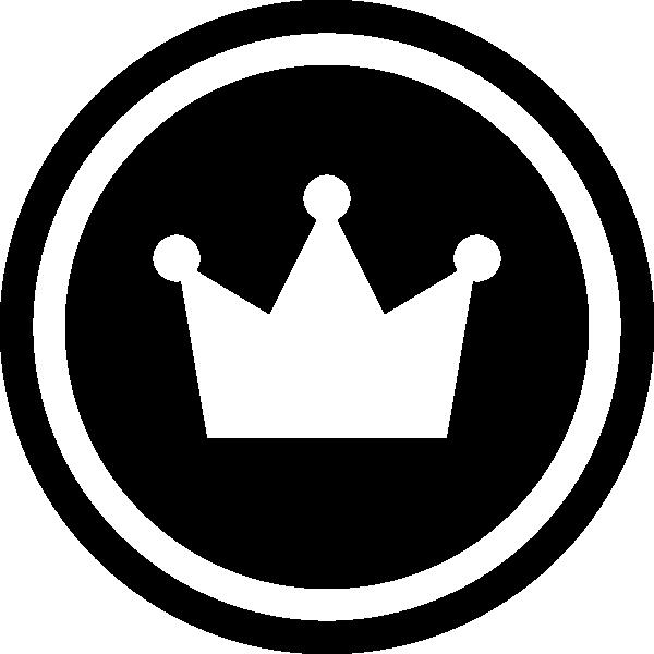 メダル風王冠のシルエットイラスト