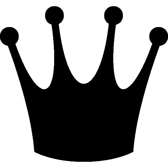 スリムな王冠のシルエットイラスト