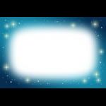 星屑が輝く夜空のフレーム枠イラスト