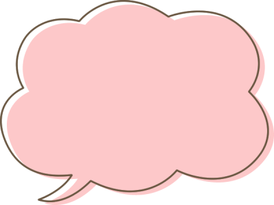 パステルカラーの吹き出し素材(ピンク色)