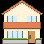 家のイラスト(2階建て住宅)