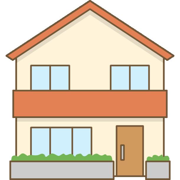 家のイラスト2階建て住宅 無料フリーイラスト素材集frame Illust