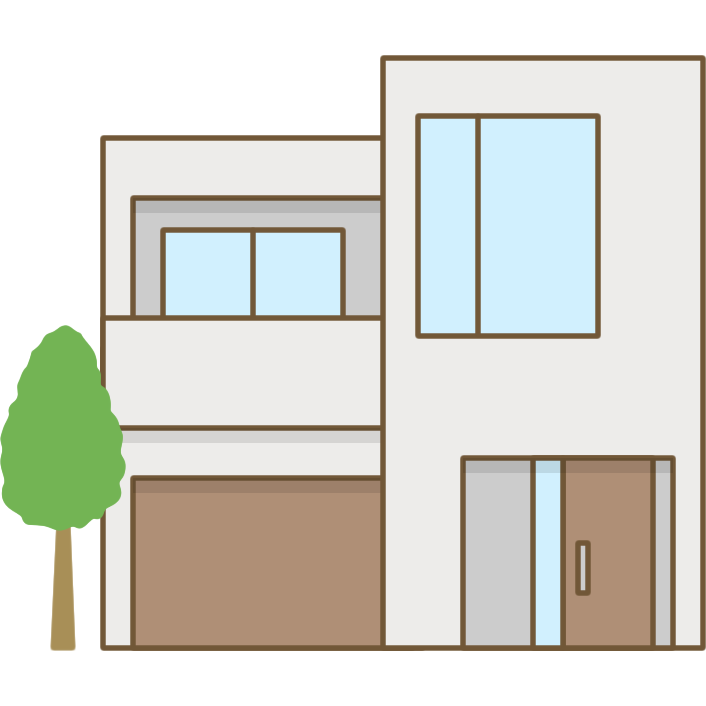 家のイラストコンクリート住宅 無料フリーイラスト素材集frame