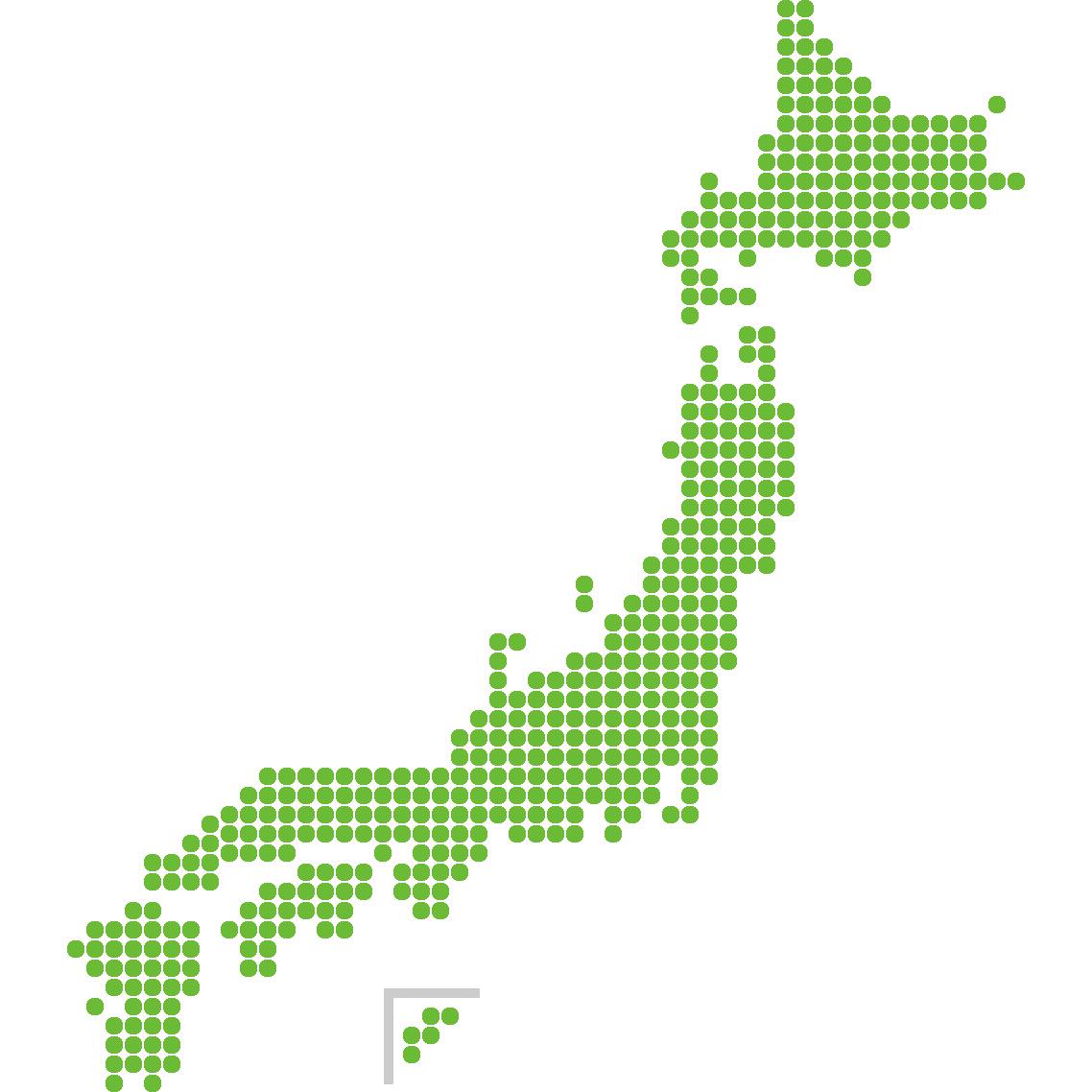 日本地図のイラスト(ドット)