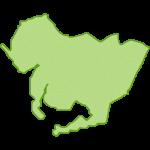 【日本地図】愛知県の地図イラスト