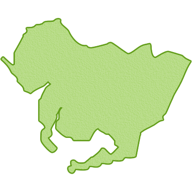 愛知県の地図イラスト