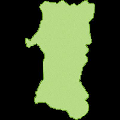 秋田県の地図イラスト