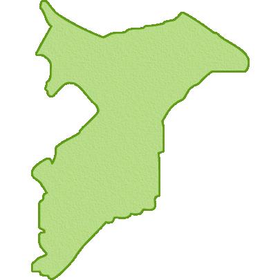 千葉県の地図イラスト