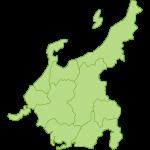 【日本地図】中部地方の地図イラスト
