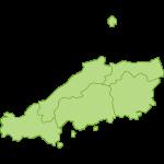 【日本地図】中国地方の地図イラスト