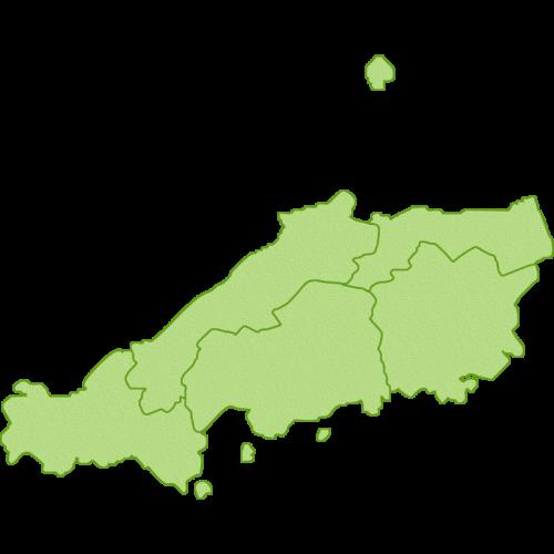中国地方の地図のイラスト
