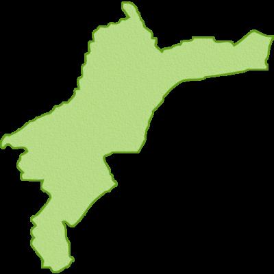 愛媛県の地図イラスト