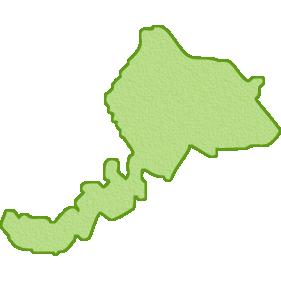 福井県の地図イラスト