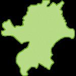 【日本地図】福岡県の地図イラスト