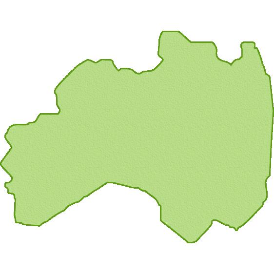 福島県の地図イラスト