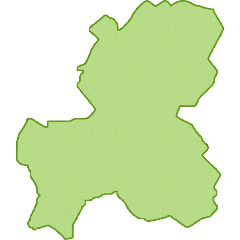 岐阜県の地図イラスト