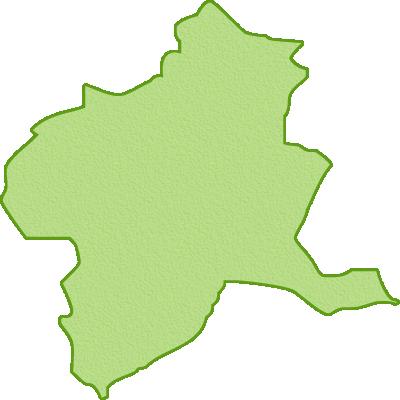 群馬県の地図イラスト