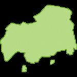【日本地図】広島県の地図イラスト