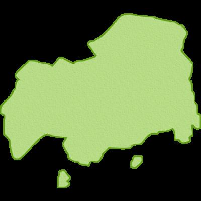 広島県の地図イラスト