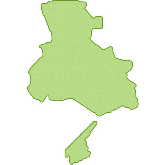 兵庫県の地図イラスト