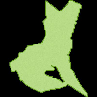 茨城県の地図イラスト