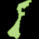 【日本地図】石川県の地図イラスト
