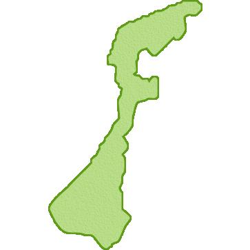 石川県の地図イラスト