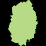 【日本地図】岩手県の地図イラスト