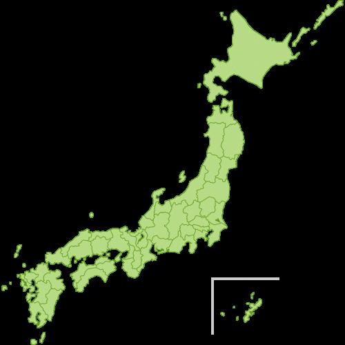 日本地図(県境入り)