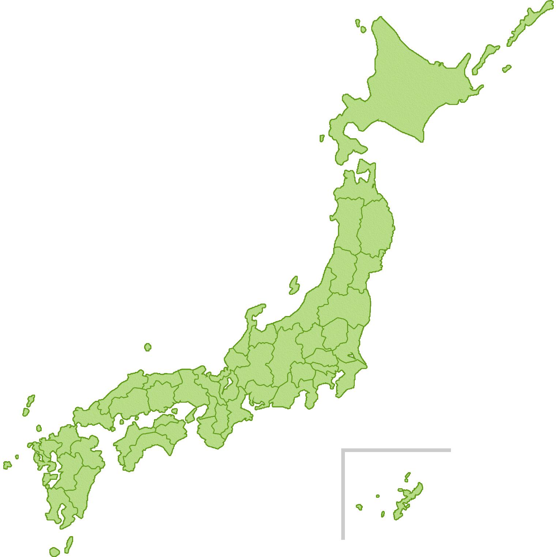 日本地図のイラスト(県境入り)