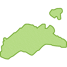 香川県の地図イラスト