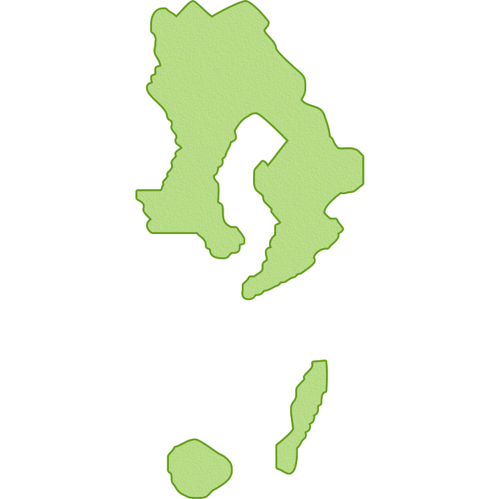 鹿児島県の地図イラスト