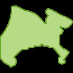 【日本地図】神奈川県の地図イラスト