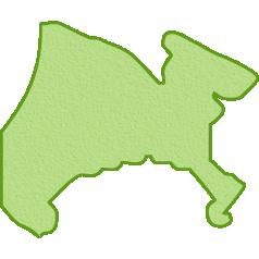 神奈川県の地図イラスト