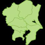 【日本地図】関東地方の地図のイラスト