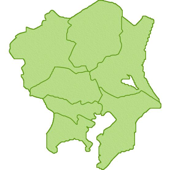 関東地方の地図のイラスト