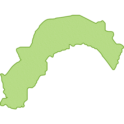 高知県の地図イラスト