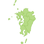 【日本地図】九州地方の地図のイラスト