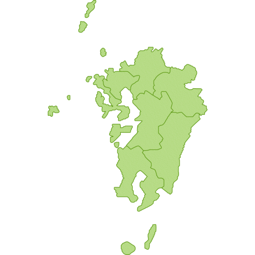 九州地方の地図