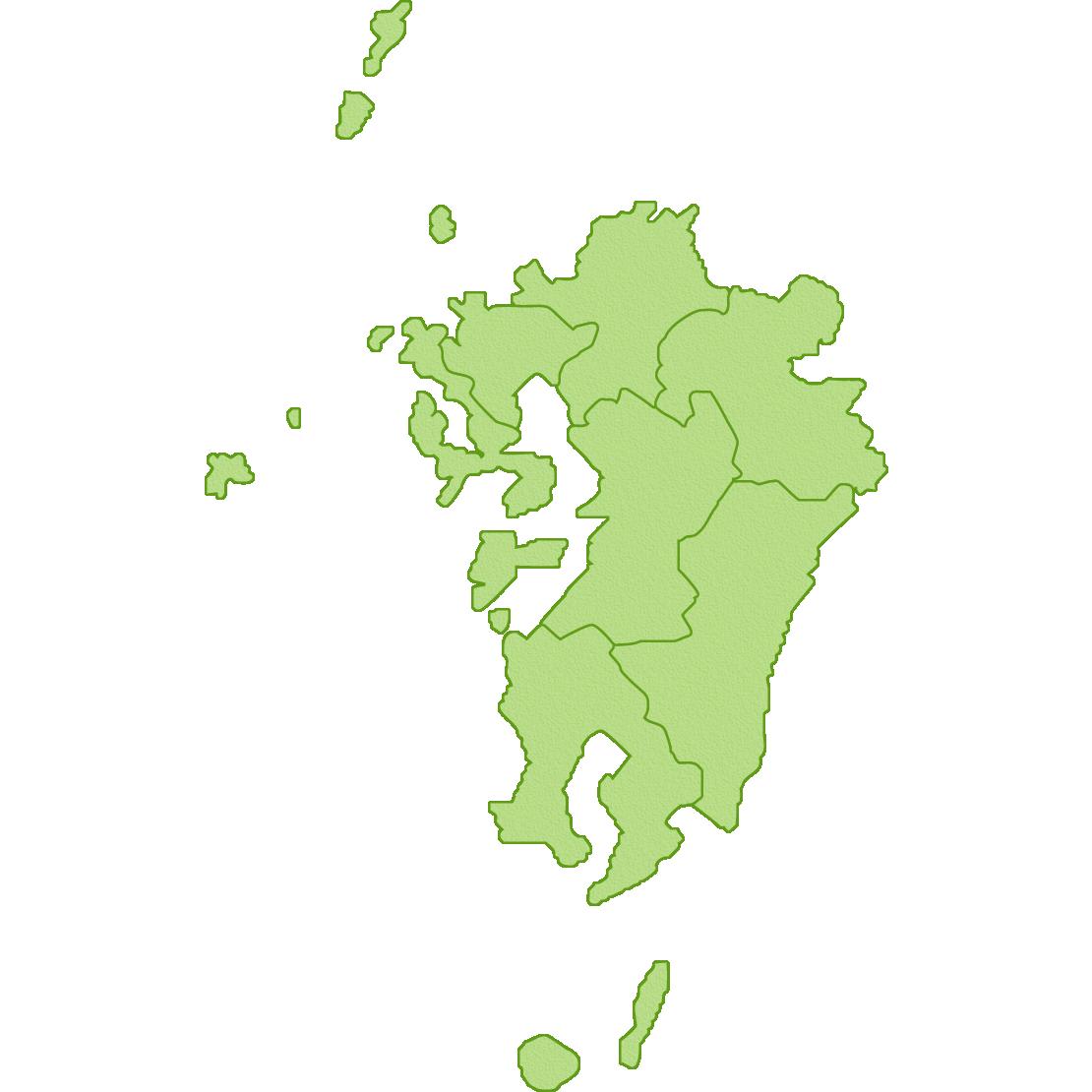 九州地方の地図のイラスト