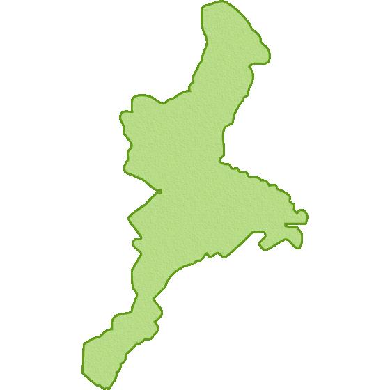 三重県の地図イラスト